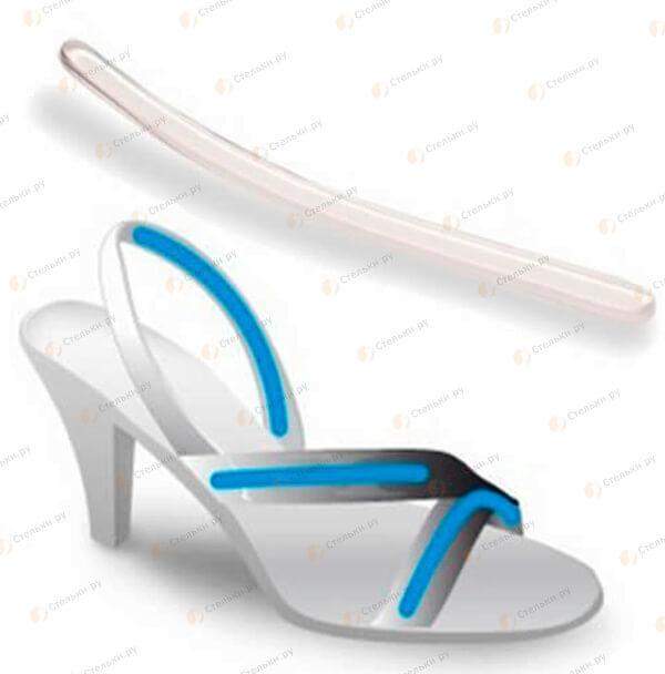 Невидимые наклейки на ремешок босоножек от натирания и спадания с ноги 4шт. многоразовые (арт. 262)