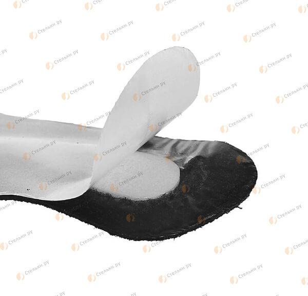 Черные пяткоудерживатели на заднюю часть обуви для корректировки размера и защиты от мозолей (арт. В919)