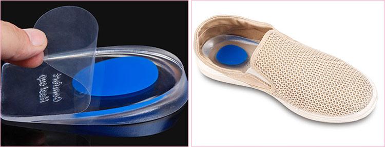Мужской амортизирующий подпяточник чашеобразной формы для закрытой и открытой обуви