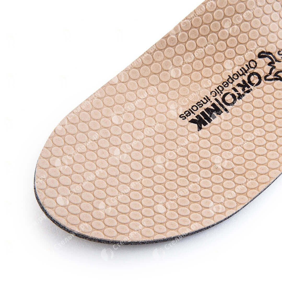 Классические лечебно-профилактические стельки для детей, препятствующие развитию плоскостопия и плоско-вальгусной стопы с покрытием из натуральной кожи