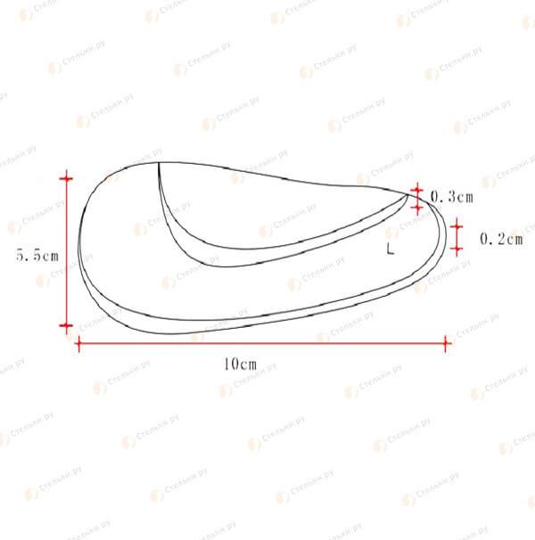 Подушечка-супинатор для профилактики продольного плоскостопия (арт. 001)